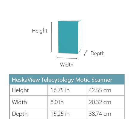 HeskaView Scanner Dimensions